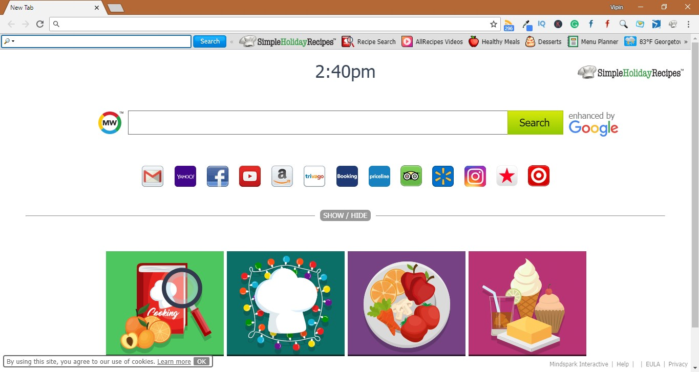 How to remove SimpleHolidayRecipes Extension