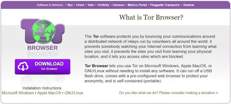 Tor Browser - Alternative to Incognito Mode