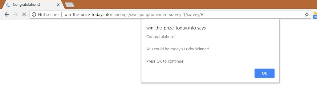 How to remove Win-the-prize-today.info Survey Scam