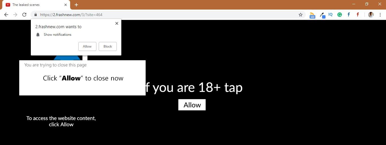How to remove Frashnew.com Pop-up