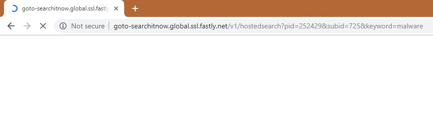 How to remove Goto-searchitnow.global.ssl.fastly.net Redirect