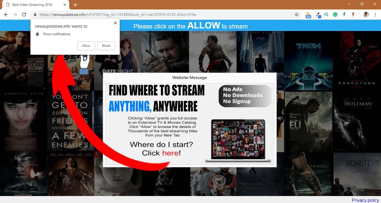 How to remove Newsupdatewe.info Pop-up