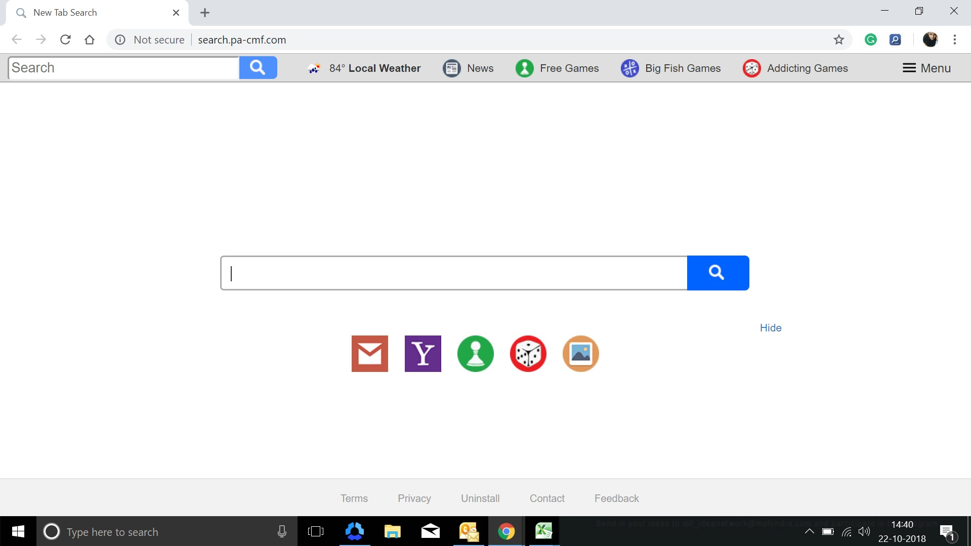 How to remove Search.pa-cmf.com Hijacker