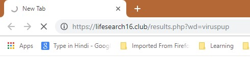 How to remove Lifesearch16.club Redirect
