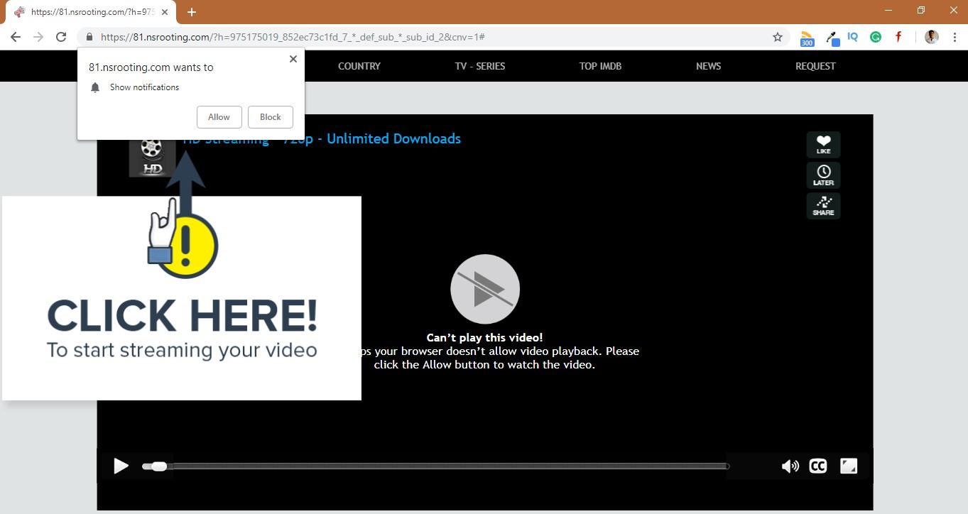 How to remove Nsrooting.com Hijacker
