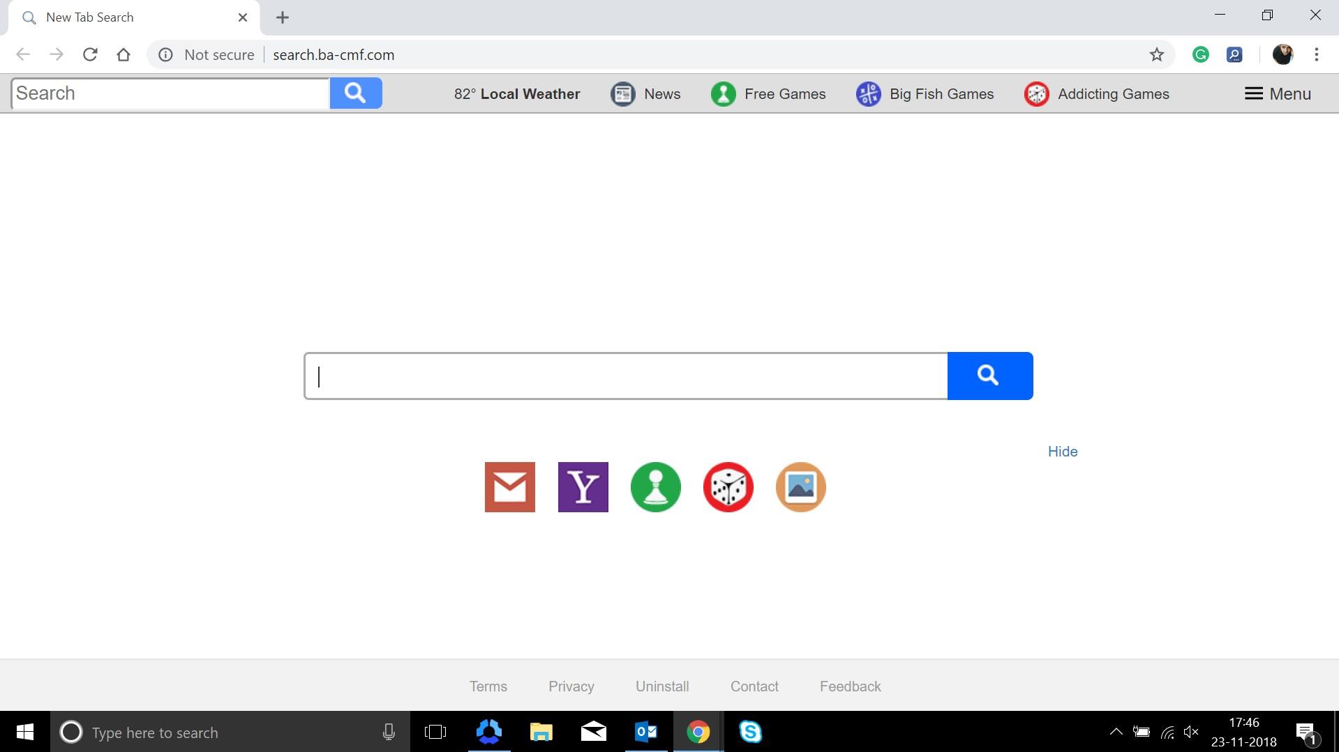 How to remove Search.ba-cmf.com Hijacker
