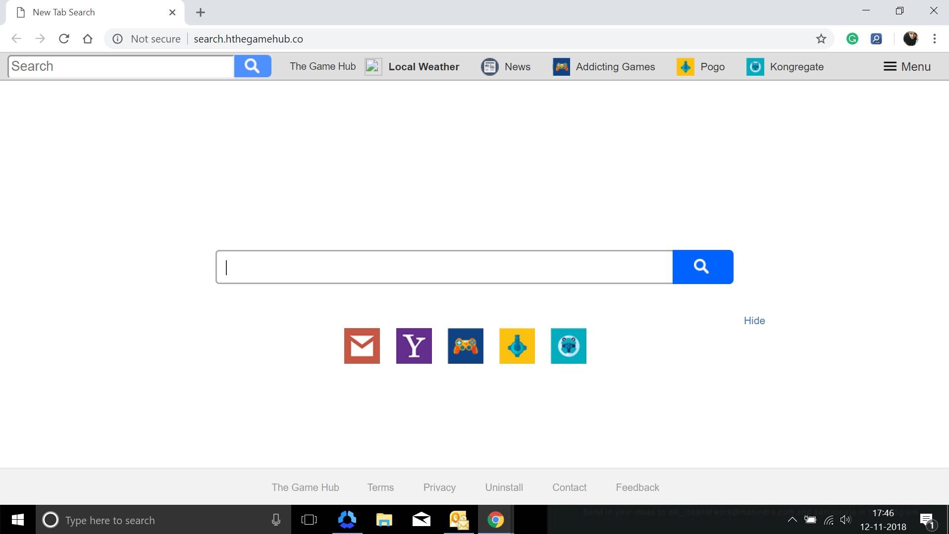 How to remove Search.hthegamehub.co Hijacker