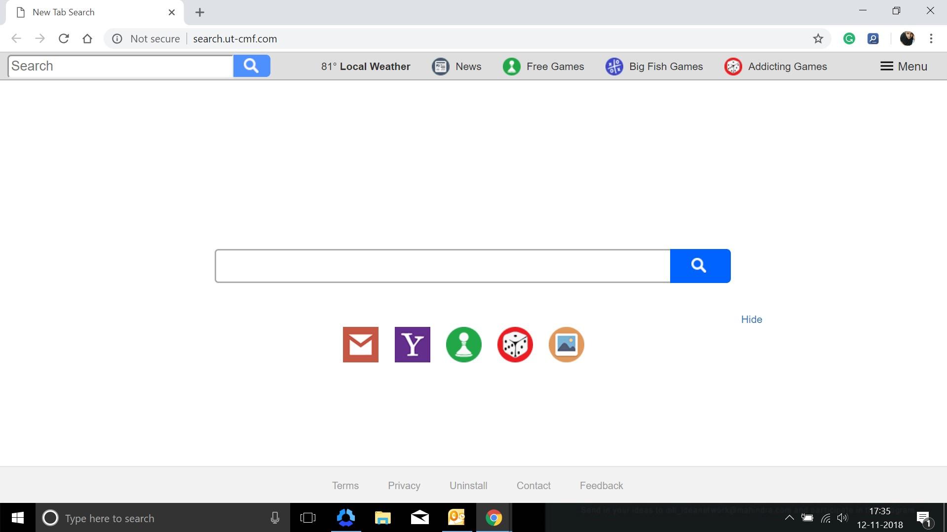 How to remove Search.ut-cmf.com Hijacker