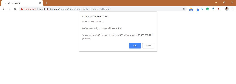 How to remove W.net-ak13.stream Pop-up