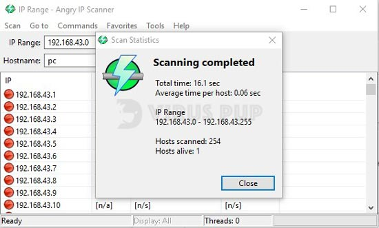 Angry IP Scanner - 10 Best Computer Diagnostic Software