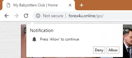 How to remove Forex4u.online Redirect Virus