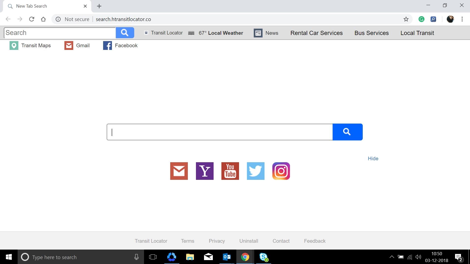 How to remove Search.htransitlocator.co Hijacker