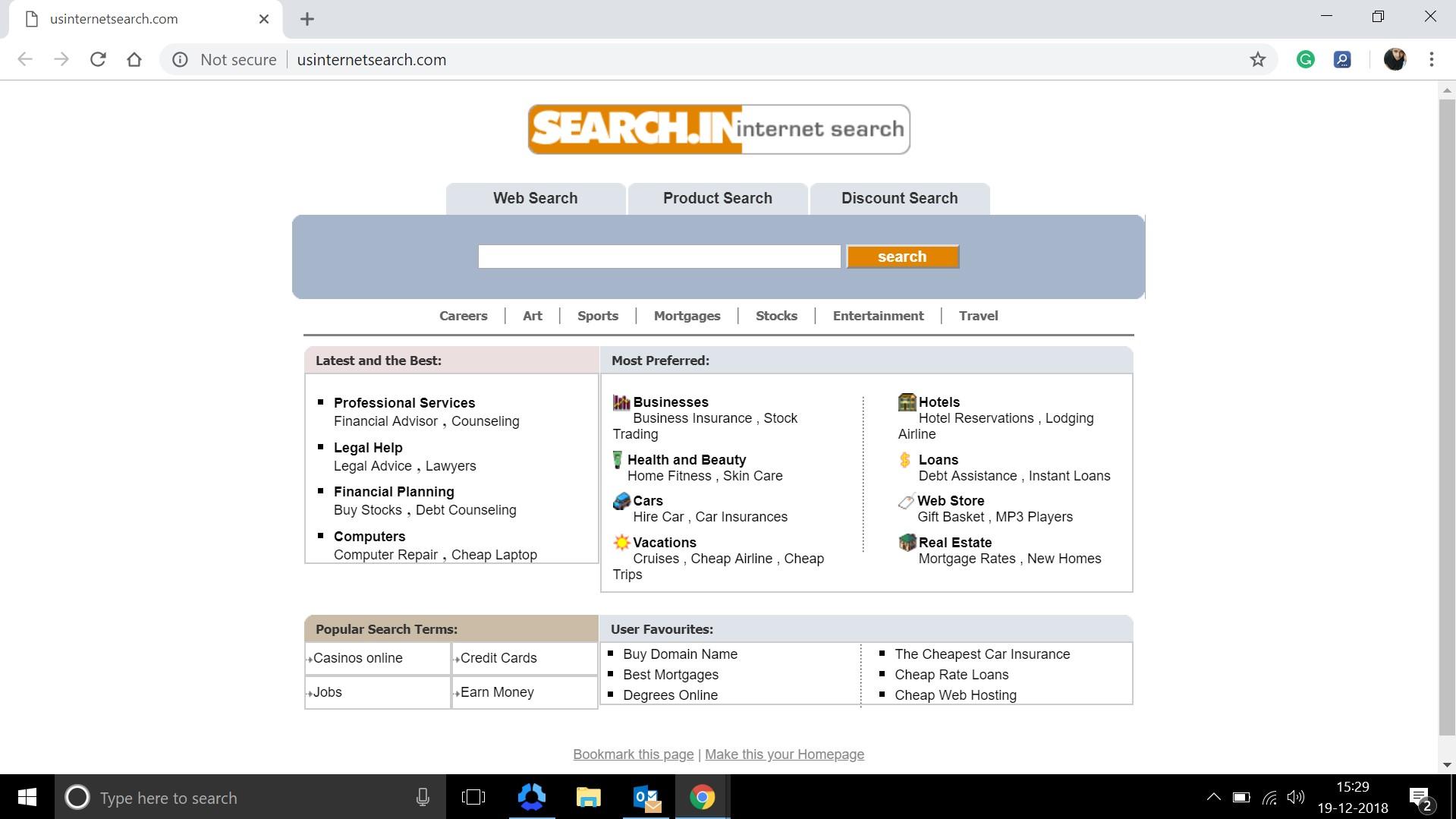 How to remove Usinternetsearch.com Hijacker