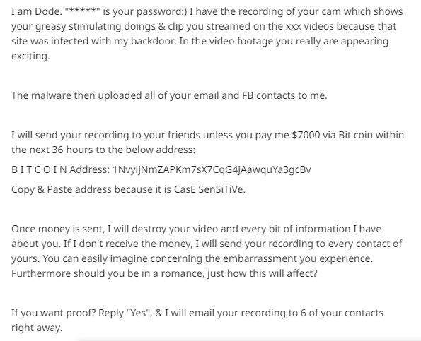 Blackmail Email Sample 1