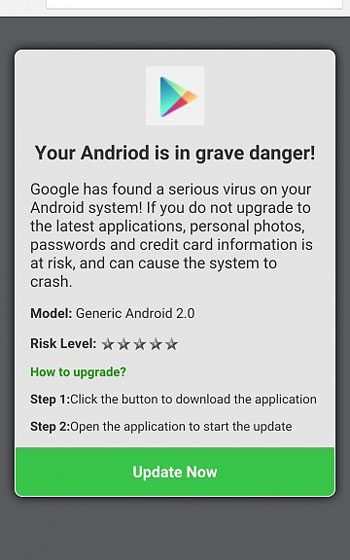 Fix Google has found a serious virus on Android system