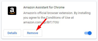 Remove Amazon Assistant Extension Chrome