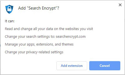Search Encrypt Extension Permission