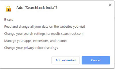 SearchLock Extension Permission