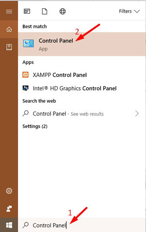 Uninstall Srchpx.xyz from Control Panel