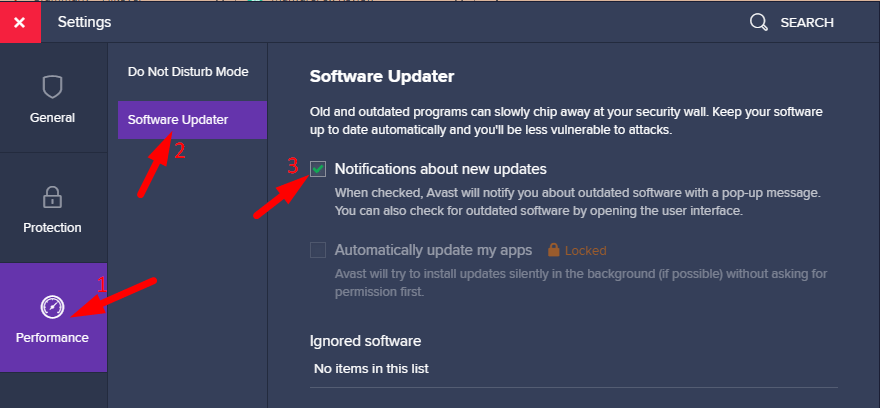 Block Software Updater Pop-up Notifications