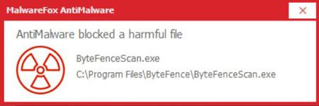 MalwareFox Blocked ByteFence