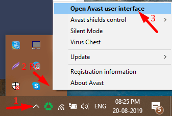 Open Avast Setting 1 - Block Avast Pop-ups