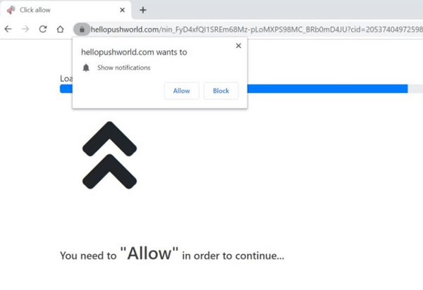How to Remove Hellopushworld.com Pop-up