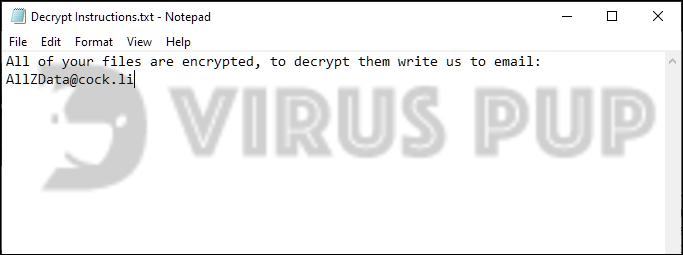 DeathHiddenTear Ransomware Note