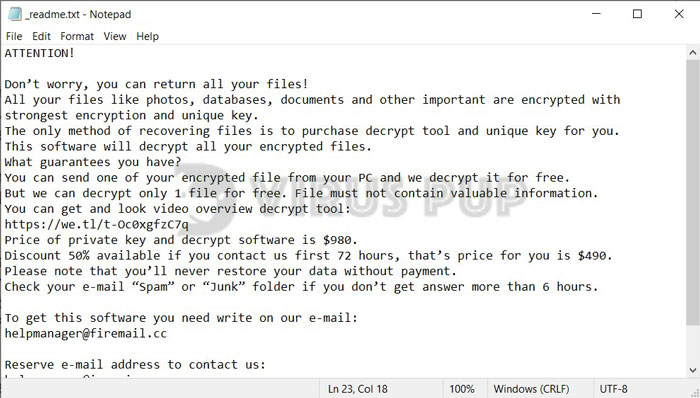 ALKA Ransomware Ransom Note