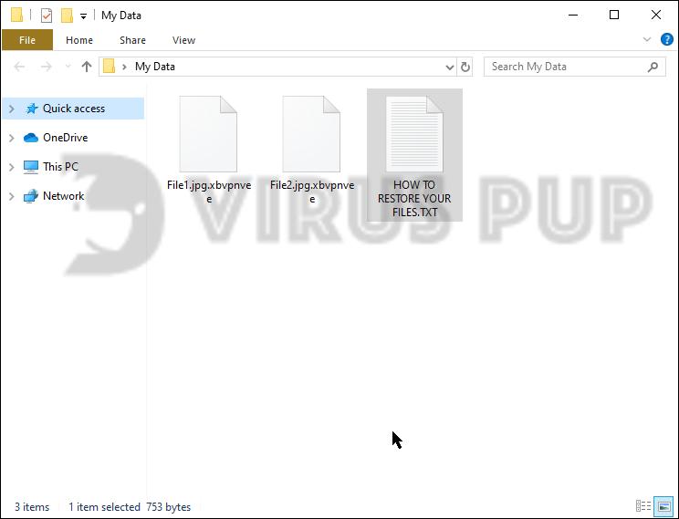 Xbvpnvee Ransomware Infected files
