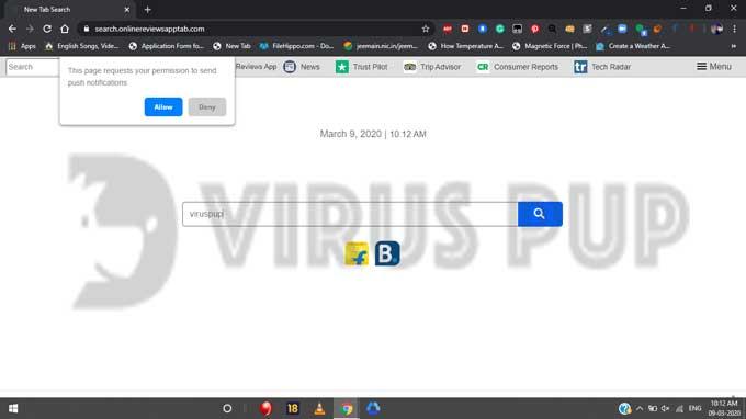 Online Reviews App Hijacker