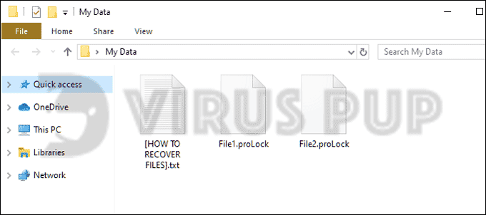 Prolock Ransomware Infected Files