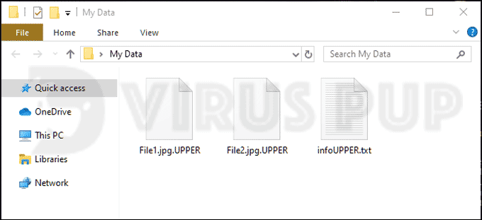 UPPER Ransomware Infected Files