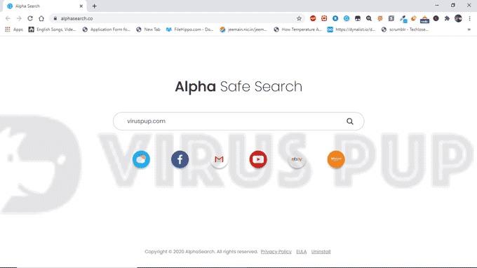 How to Delete Apha Search